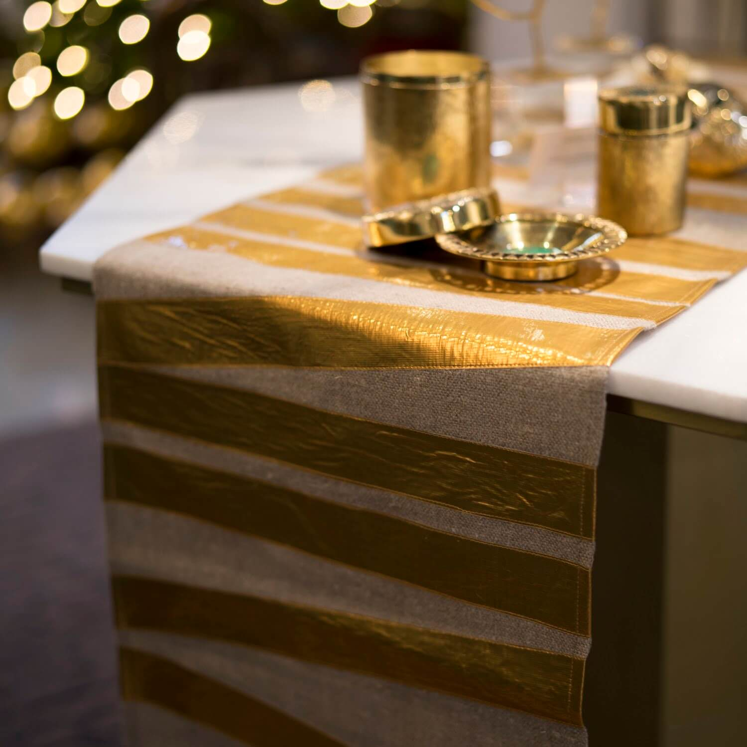 "16"" x 90"" Wrapped Runner - Natural Gold"
