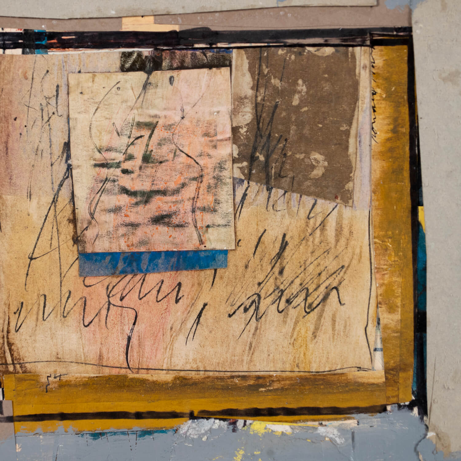 Mixed Media Abstract Collage By Ronald Gustin Ahlstrom