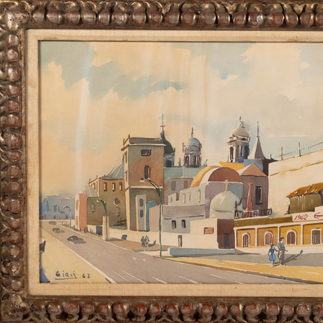 Watercolor Painting, Signed Illegibly, Dated 1962