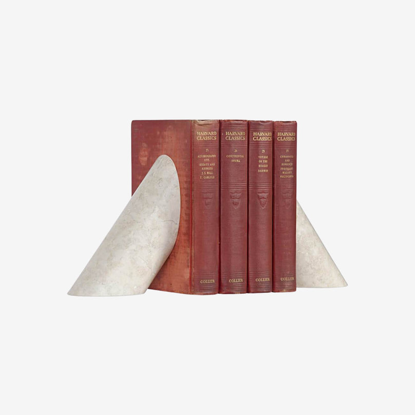 Bookends Architectural White Marble