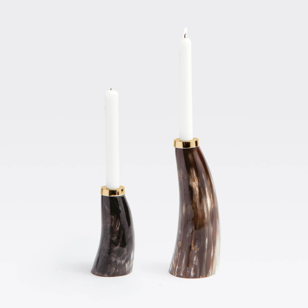 Brian Horn Candle Holders, Set/2