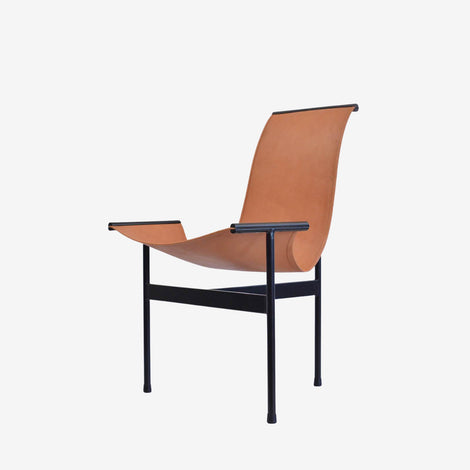 Chair Tobati in Leather & Iron