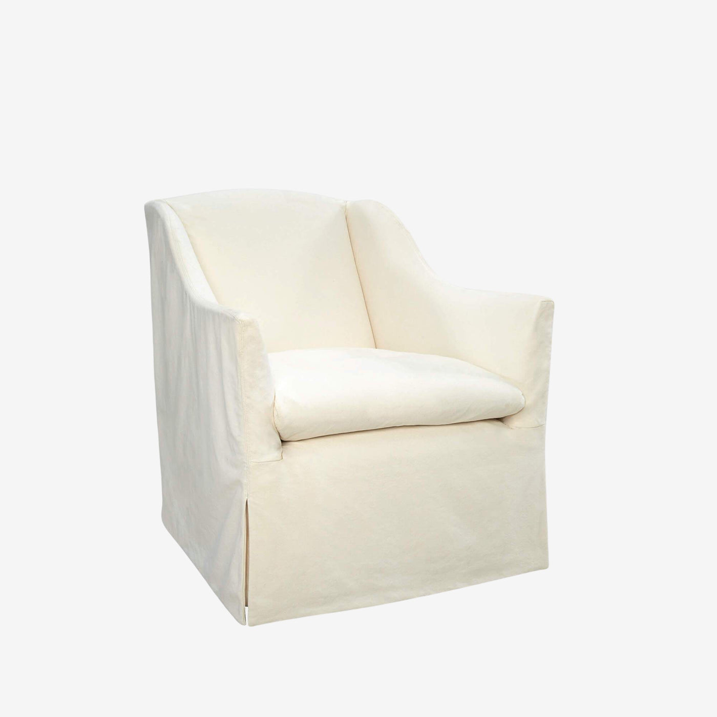 Chloe Slipcovered Swivel Chair