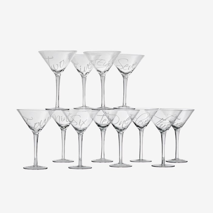 Count of Martinis - Set / 12