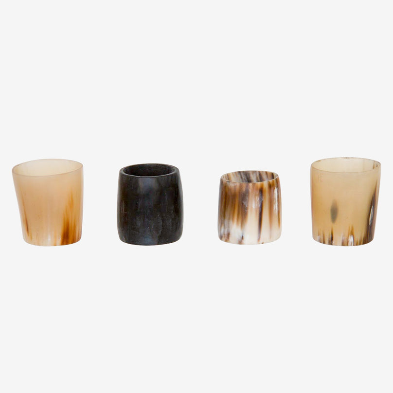 Cow Horn Napkin Rings - Set of 4