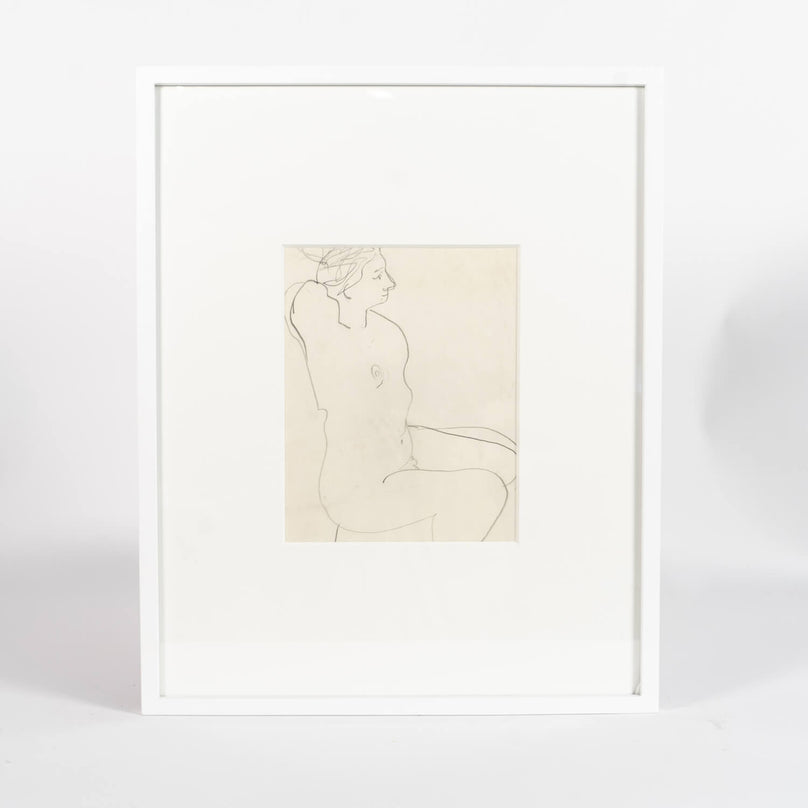 Pencil Drawing Of A Woman By Victor Di Gesu, Circa 1955