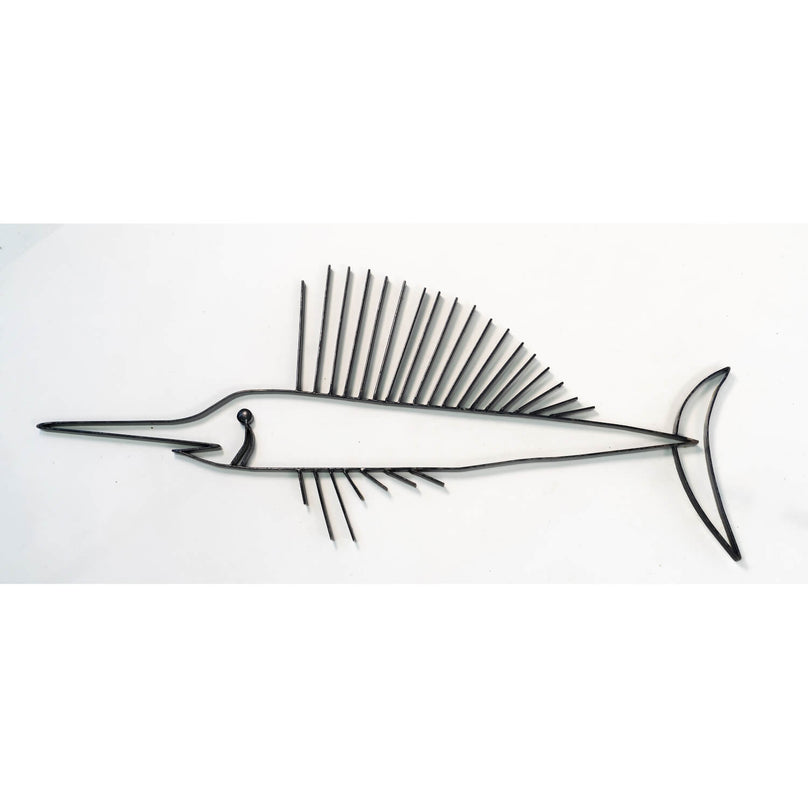 Sailfish Iron Wall Sculpture, Circa 1960, Unsigned