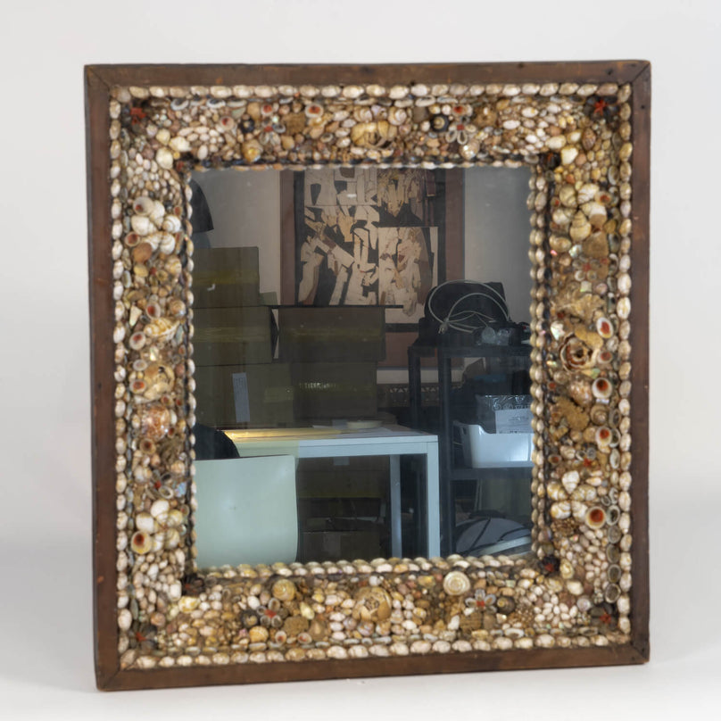 Shell Encrusted Mirror