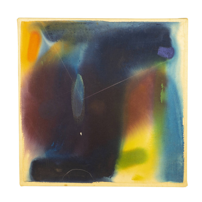 Abstract Painting, Dated 1976 On Verso, Signed M. Heuges