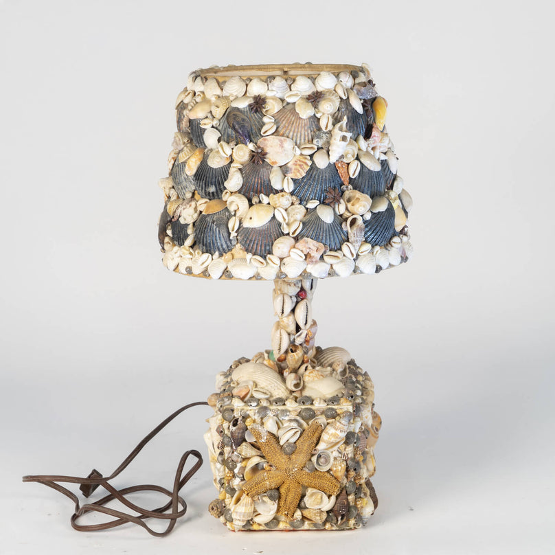 Shell Encrusted Lamp, Circa 1940