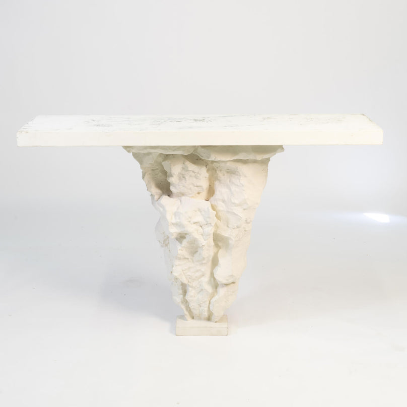 "Cast Cement ""Rockery"" Console, Circa 1970"