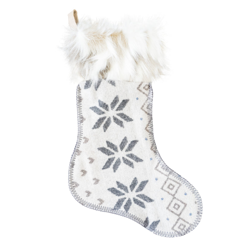 Snow Bird Christmas Stocking