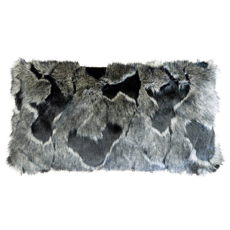 Onyx Fox Faux Fur Lumbar Pillow