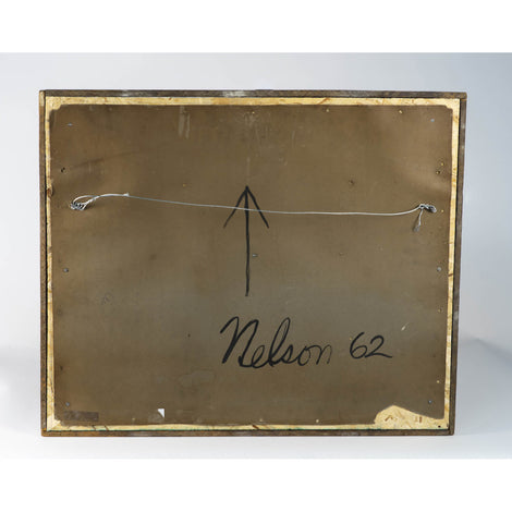 Mixed Media Abstract, Signed Nelson, Dated 1962 On Verso
