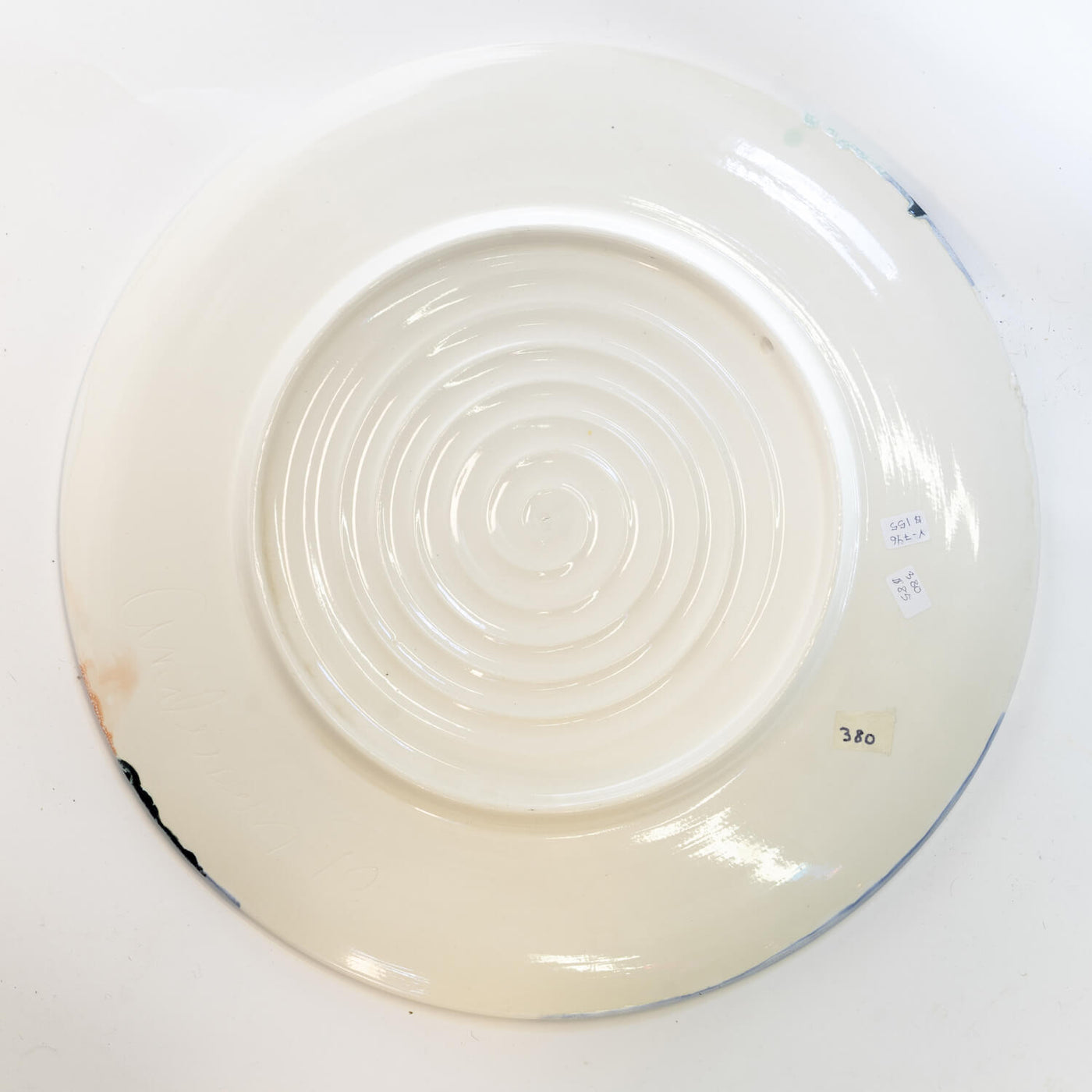 American Studio Pottery Charger, Circa 1990, Signed Andersen