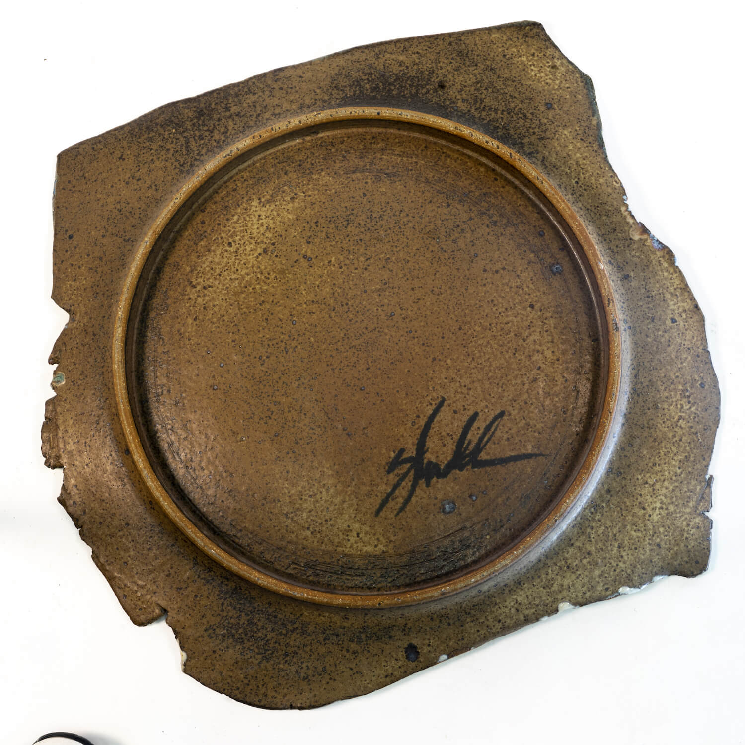"""American Studio Pottery Charger, Circa 1975. Signed """"Shuld"""" Sp"""