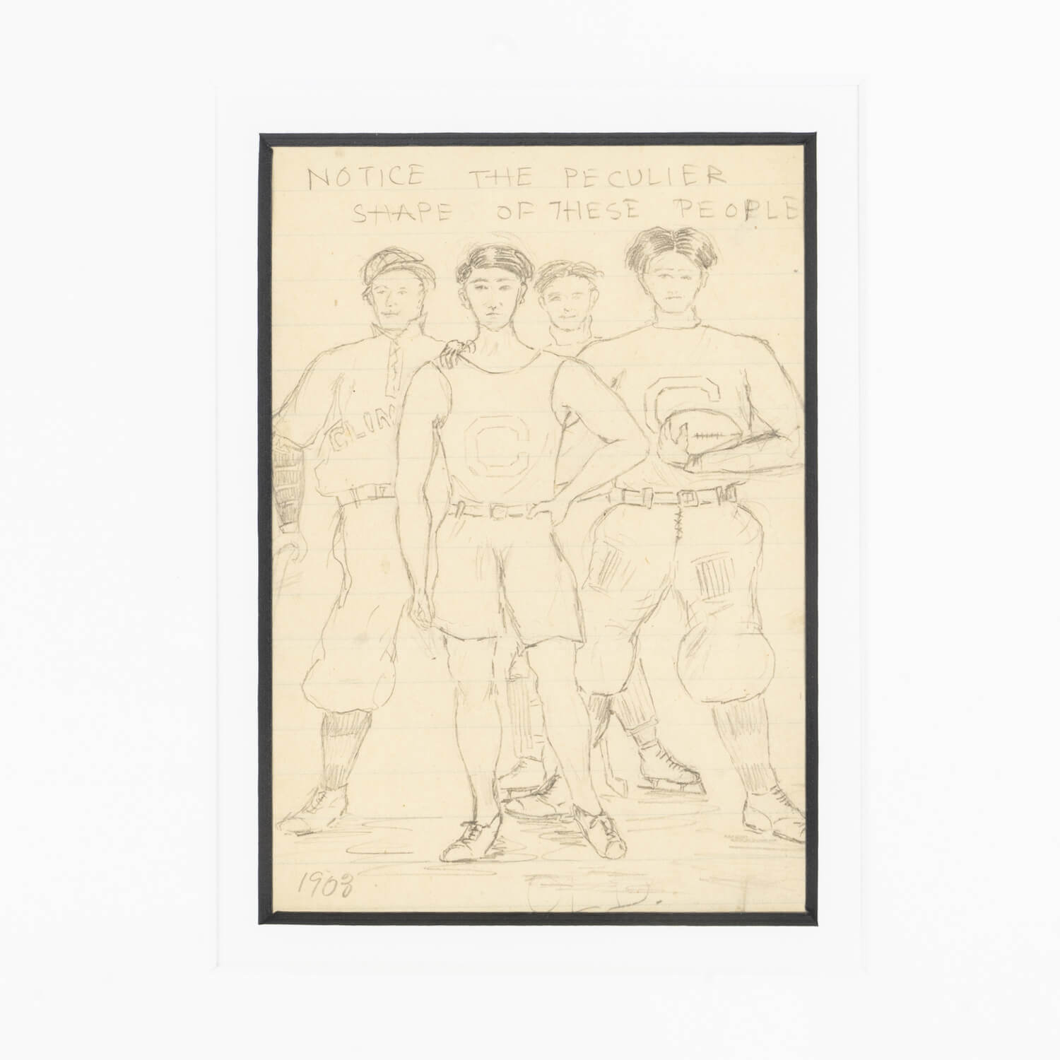 Graphite Drawing On Paper, Dated 1903, Anonymous
