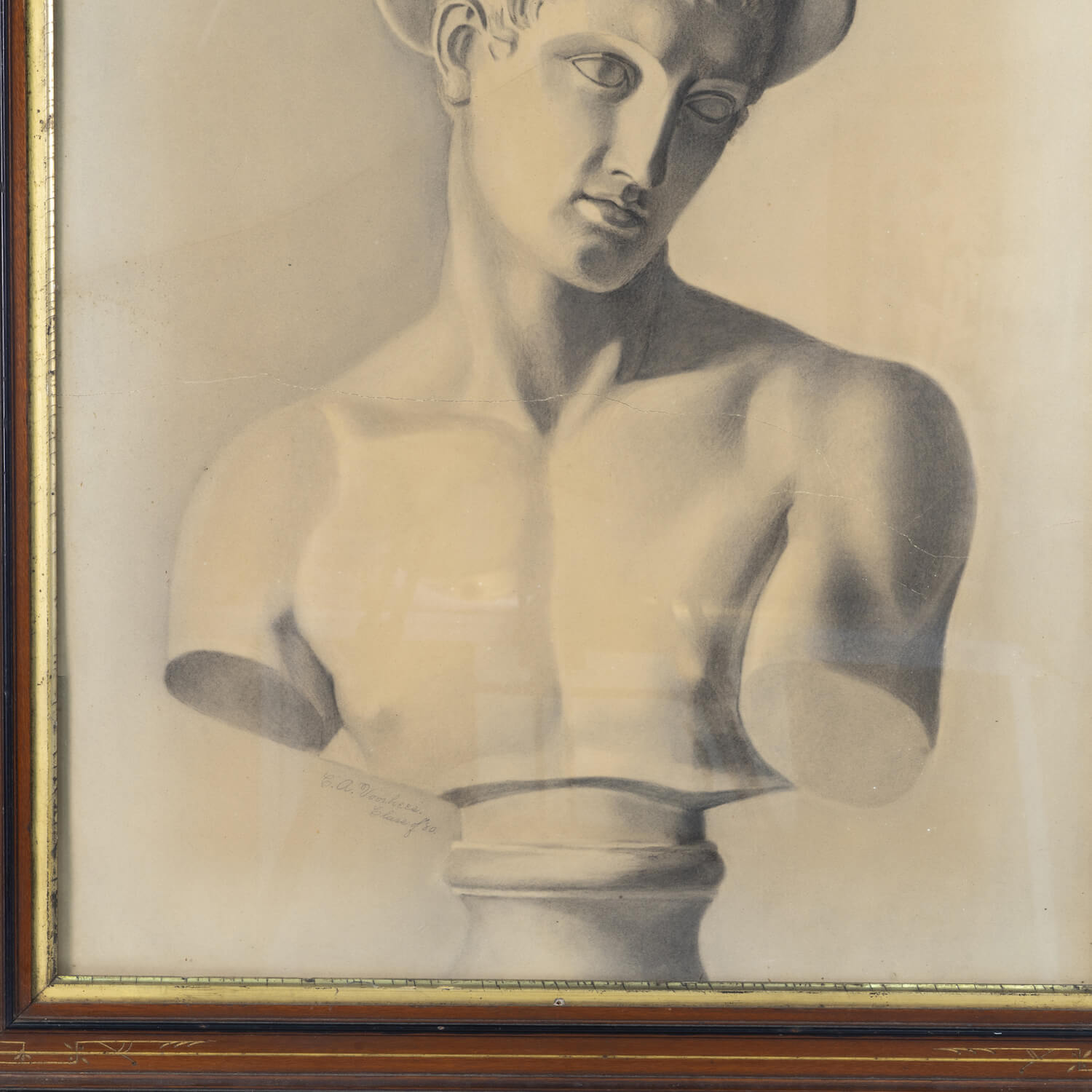 "Graphite Drawing On Paper, Inscribed ""Class Of 80"", Signed C.A.Voorhees"