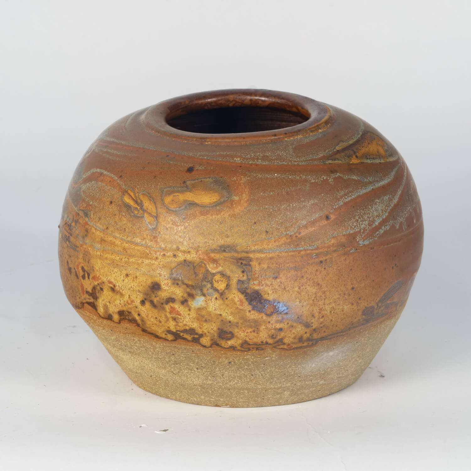 American Studio Pottery, Signed Illegibly