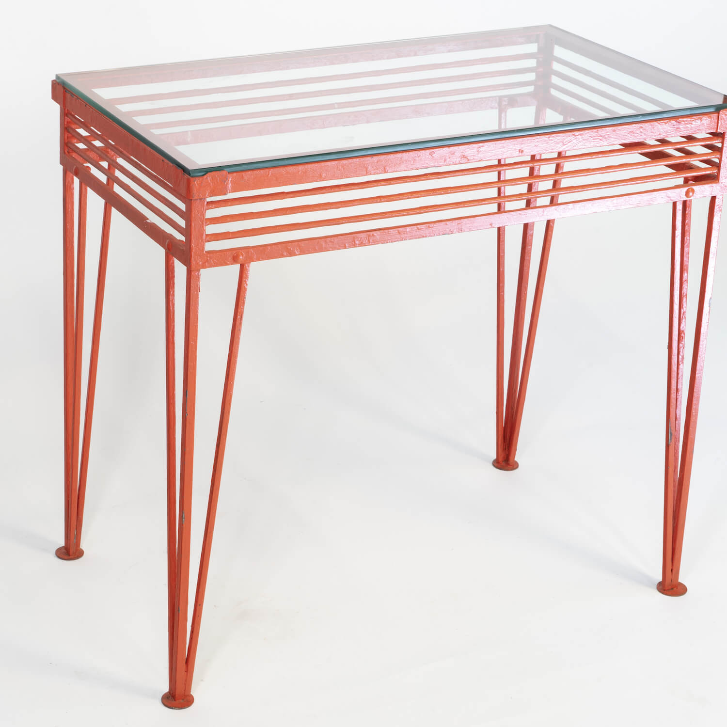 Iron And Glass Console. Attributed To Raymond Lowey, Circa 1930