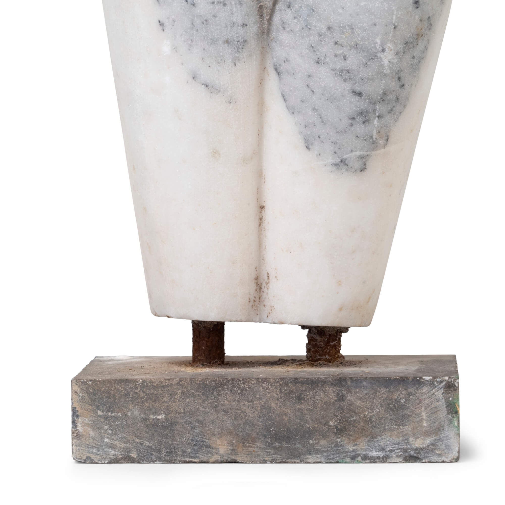 White Marble Bust - Clothed