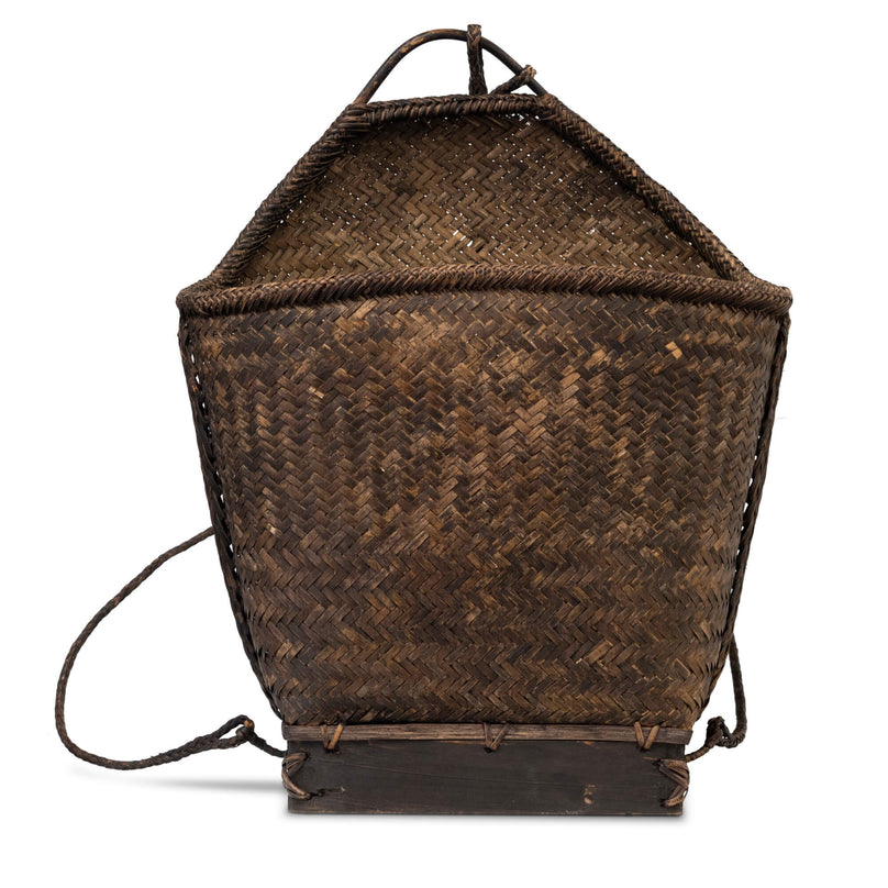 Antique Backpack Basket