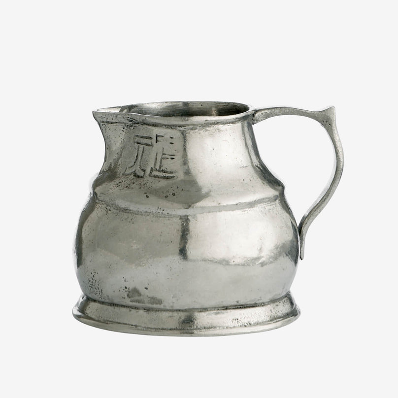 Distressed Pewter Small Pitcher
