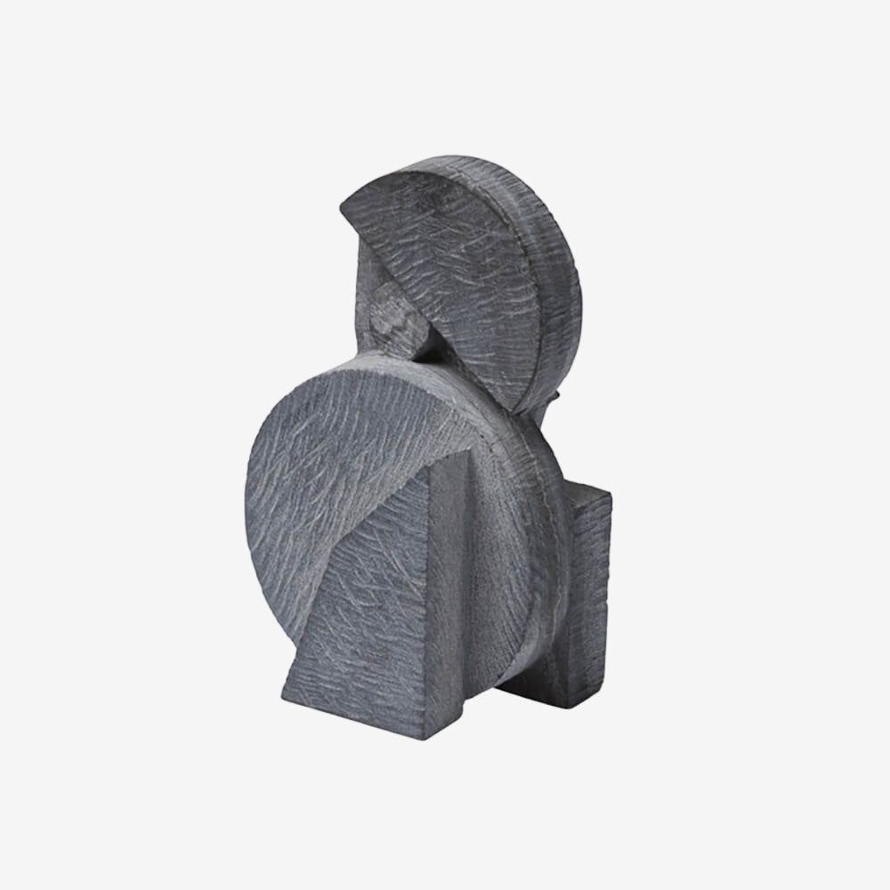 Geometric Marble Sculpture - Grey