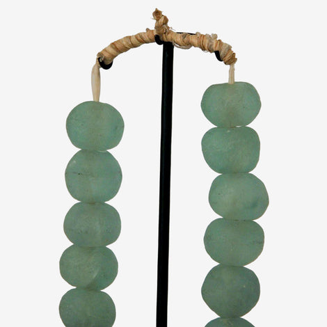Ghanian Glass Beads on Metal Stand - Opaque