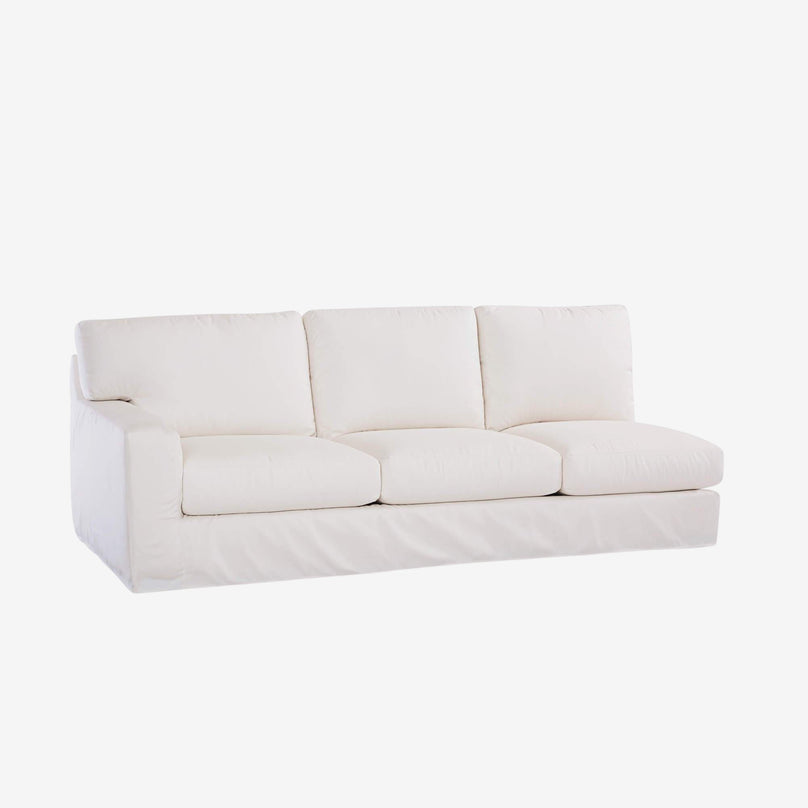 Gotham Slipcovered One Arm Sofa