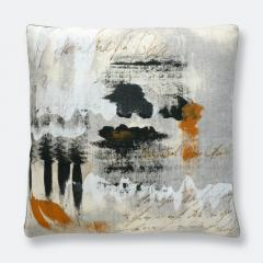 "20"" Graphic Field Pillow - Natural"