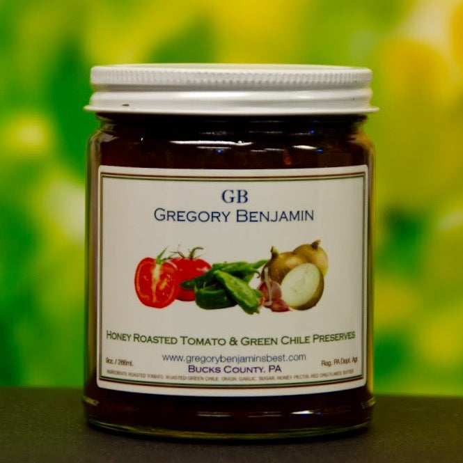 Gregory Benjamin Preserves - Honey Roasted Tomato Hatch Green Chile 9 oz.