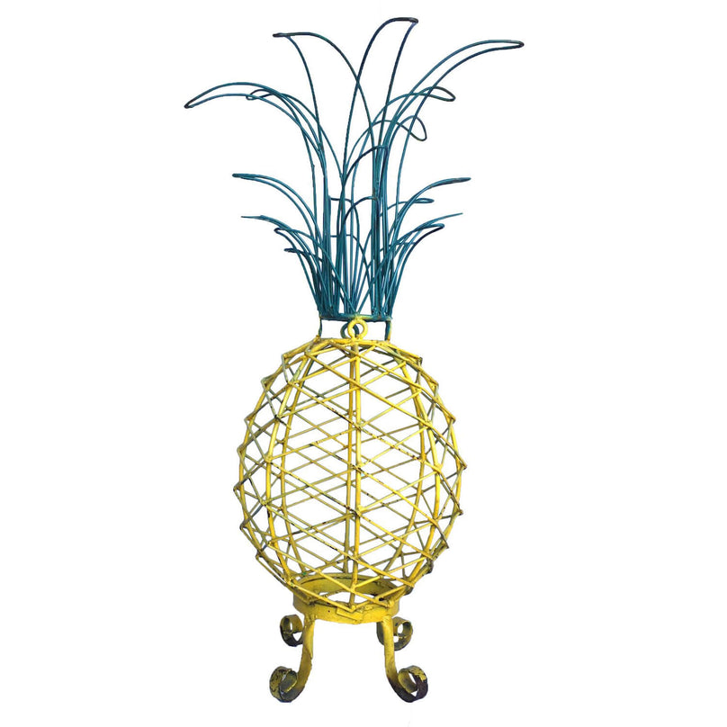 1950s Painted Metal Pineapple Sculpture
