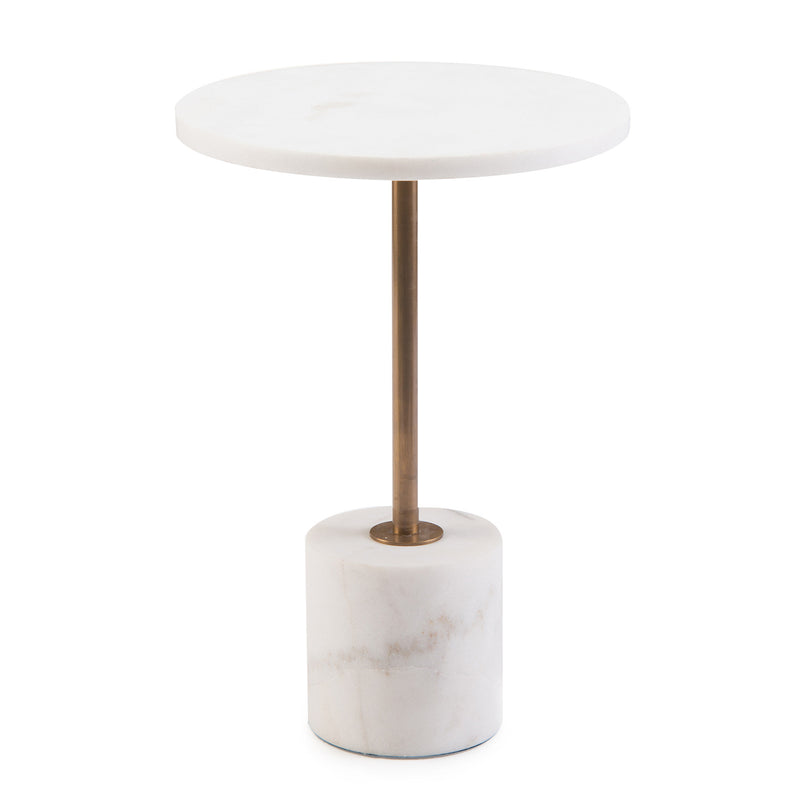 Dusty Martini Table - Cylinder Base