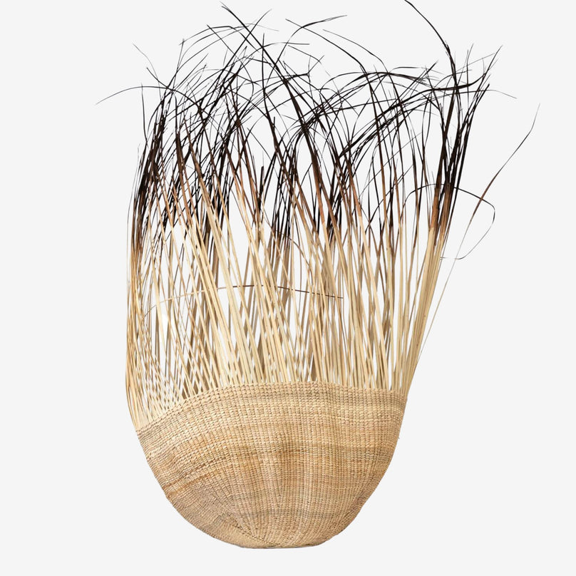 Kalahari Grass Basket with Fringe