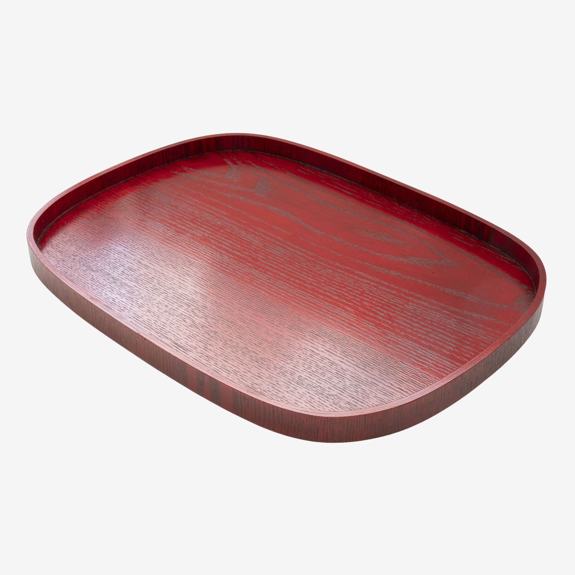 Lacquered Rectangle Tray, Red