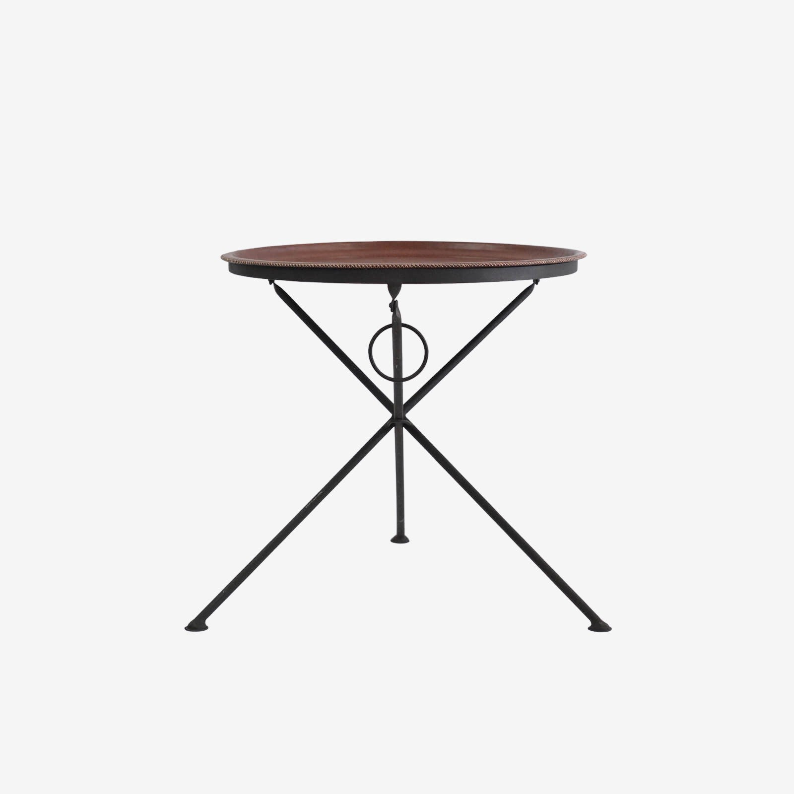 Leather Folding Table