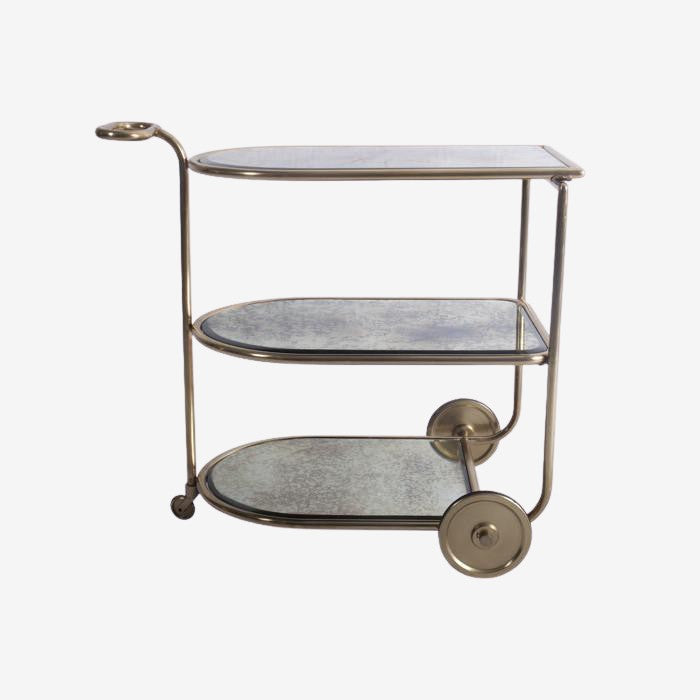 Luxe Mirrored Bar Cart