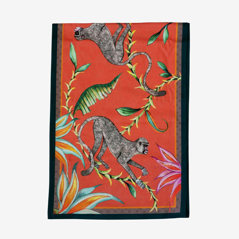 Monkey Paradise Table Runner