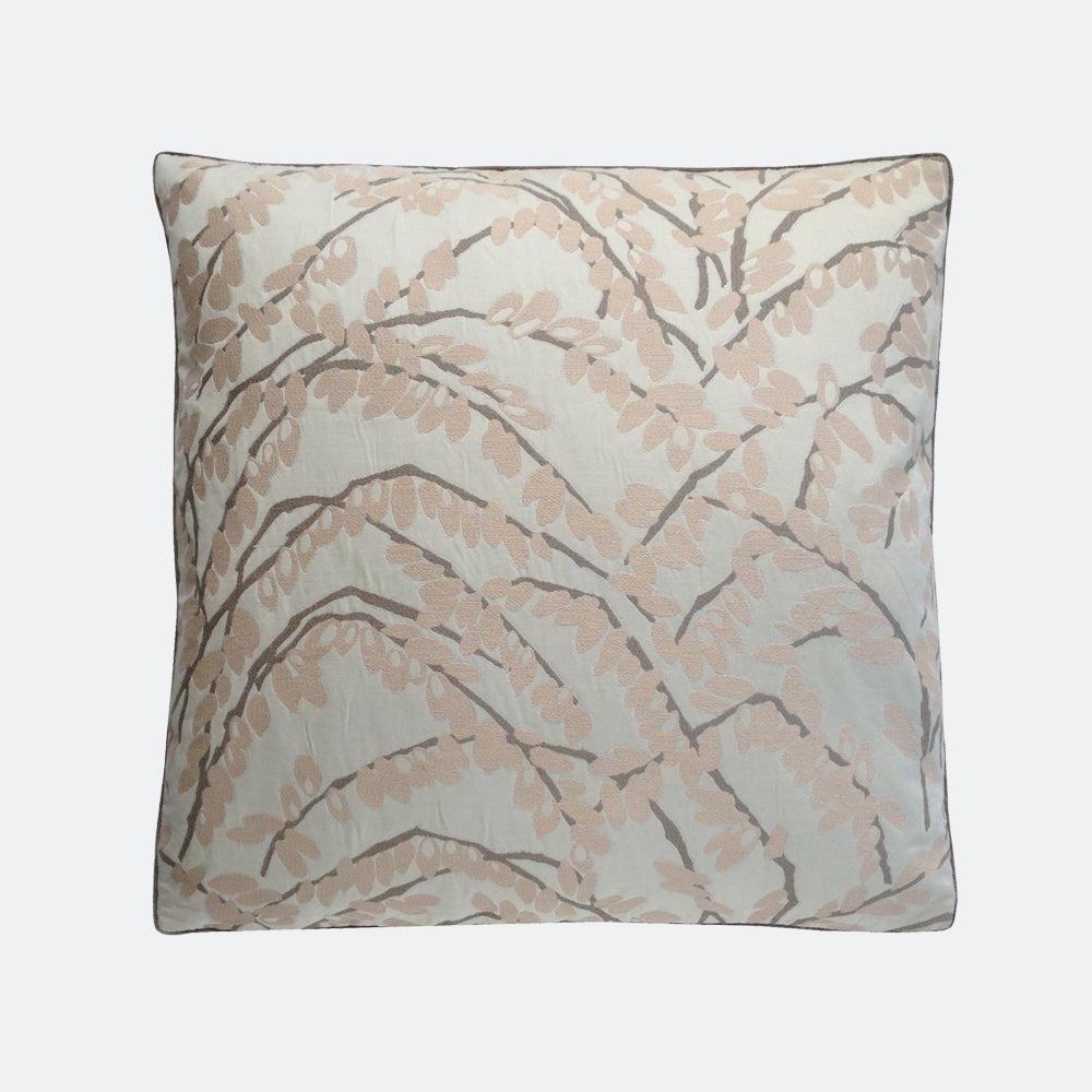 """22"""" Olive Branch Pillow - Blush"""