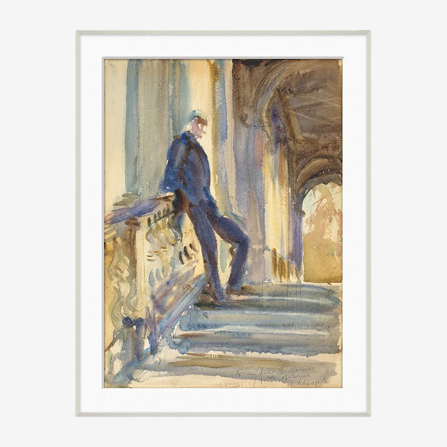On the Step of a Venetian Palazzo, John Singer Sargent