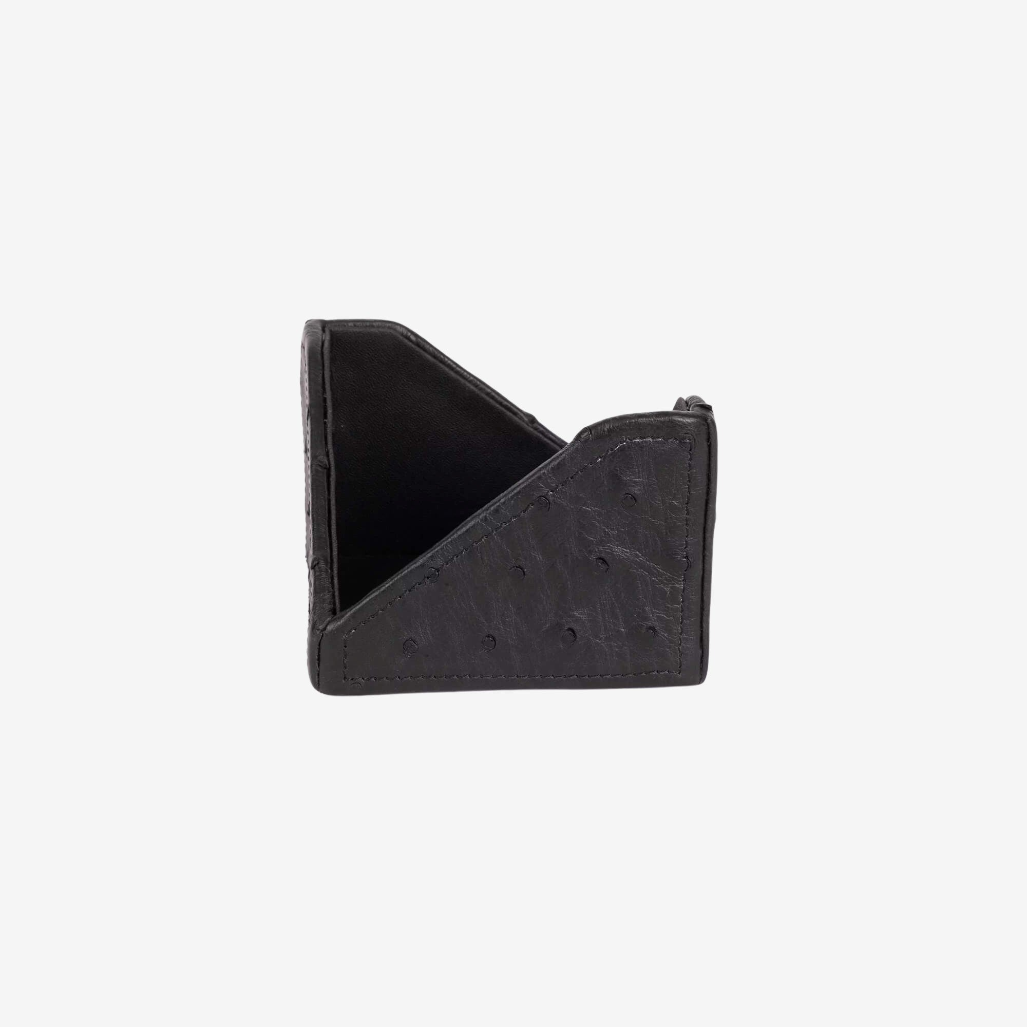 Ostrich Leather Note Paper Holder