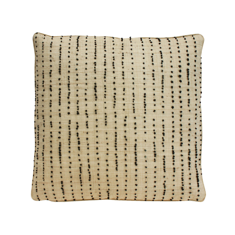 Cloves Raffia Embroidered Pillow