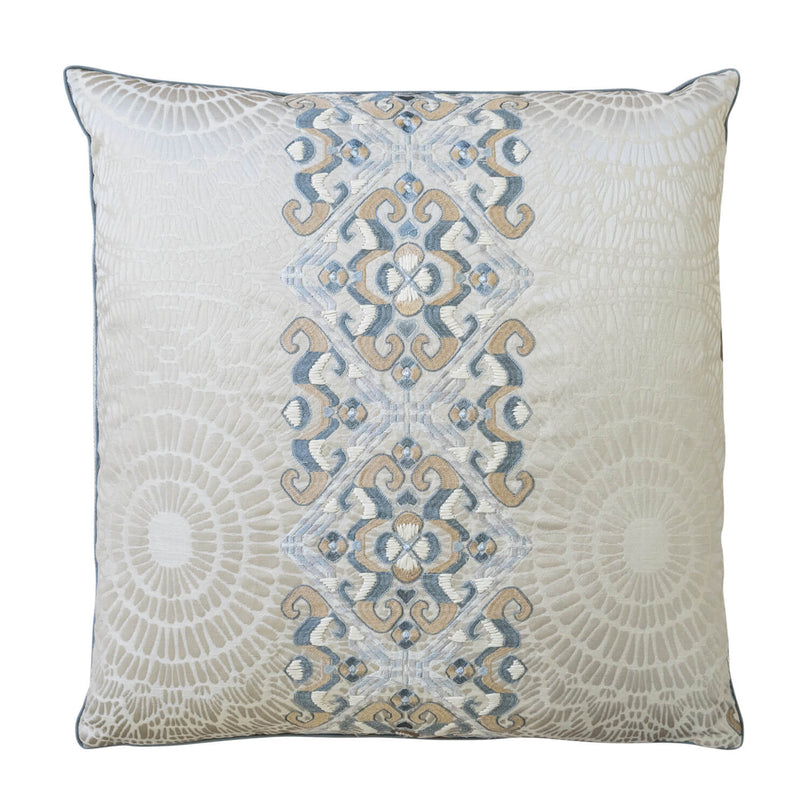 "22"" Ammonite Pillow - Silver/Gold"