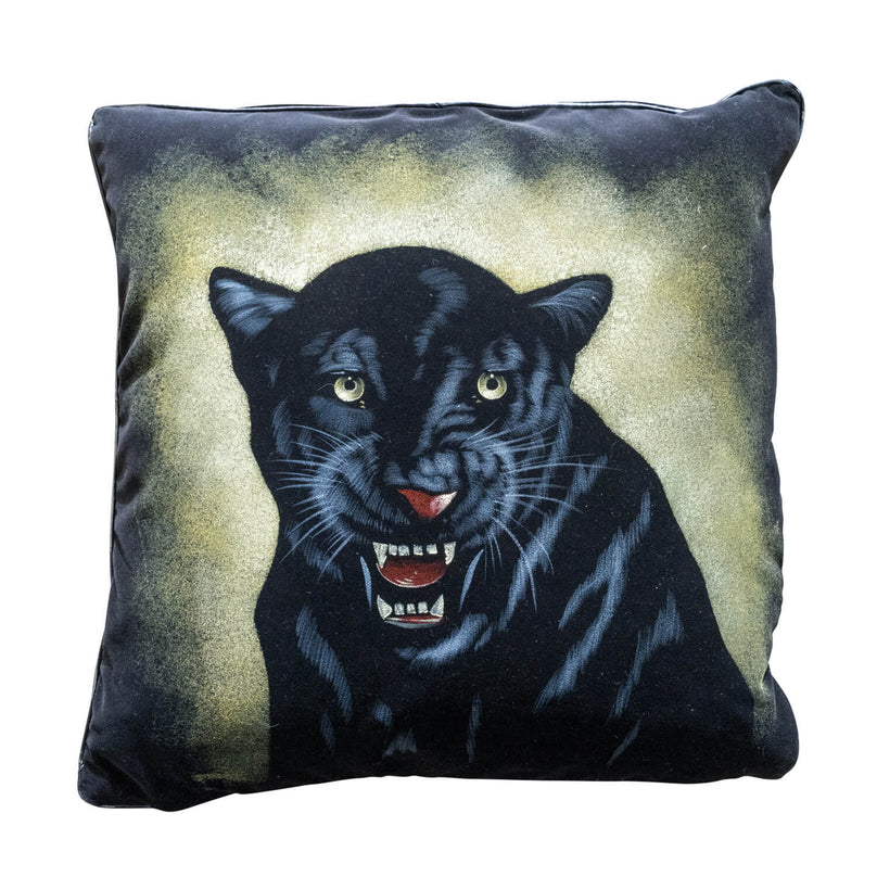 "20"" Black Panther Pillow - Black"