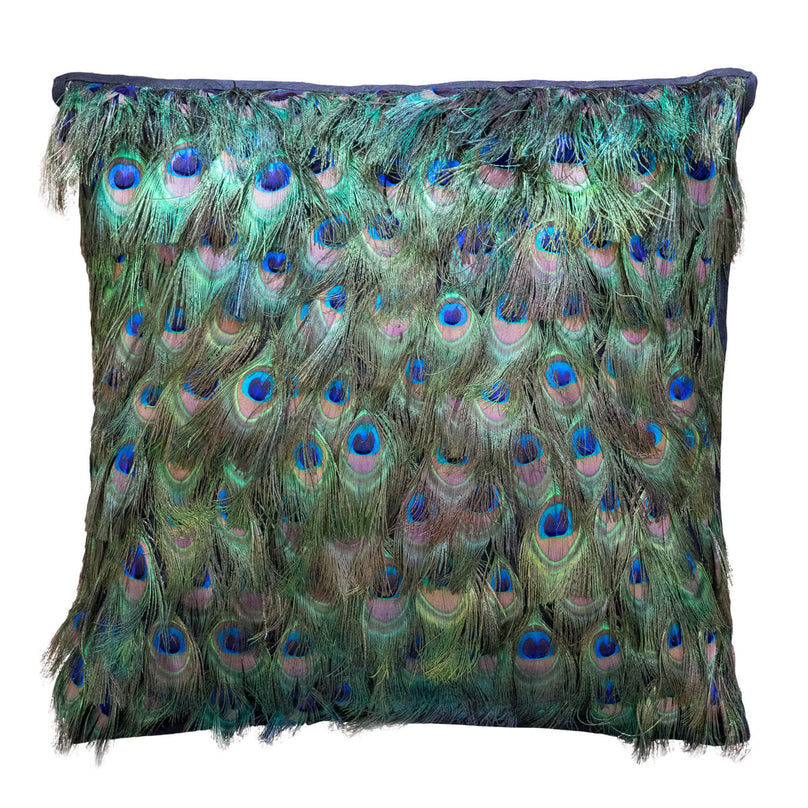 "20"" Peacock Feather Pillow"