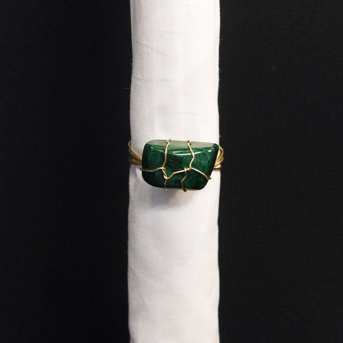 Malachite Nuggets Napkin Ring