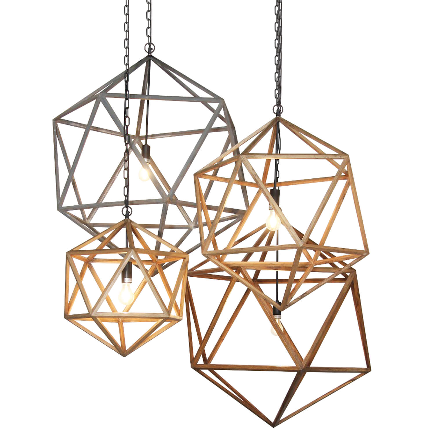Natural Wooden Polyhedron