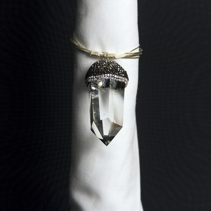 Crystal Points Napkin Ring