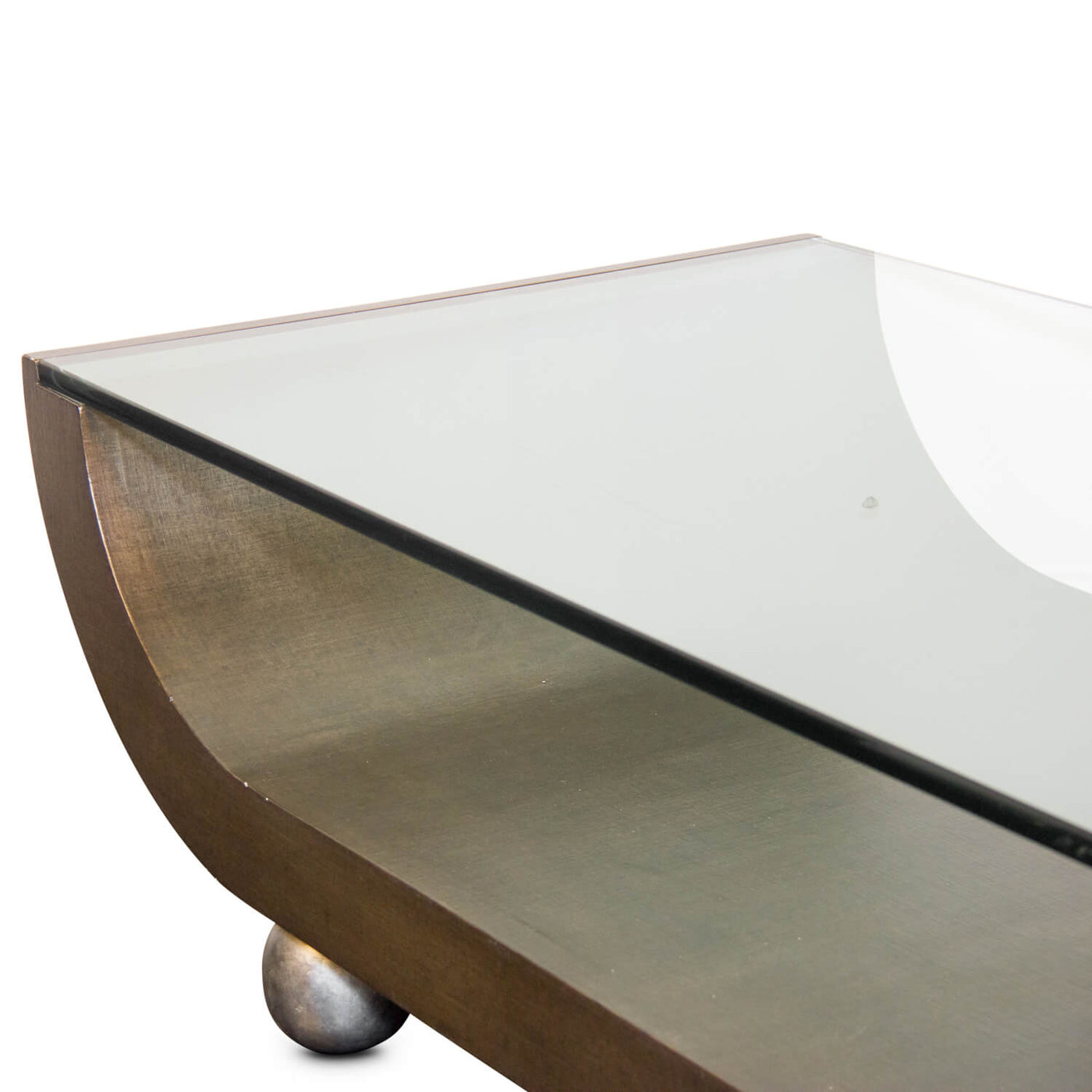Vintage Arched Glass Coffee Table